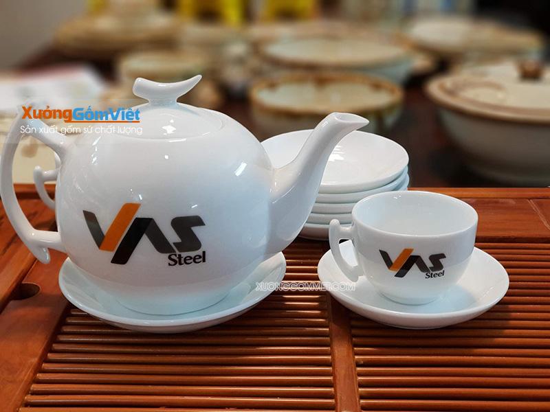 Bộ trà trăng khuyết in logo
