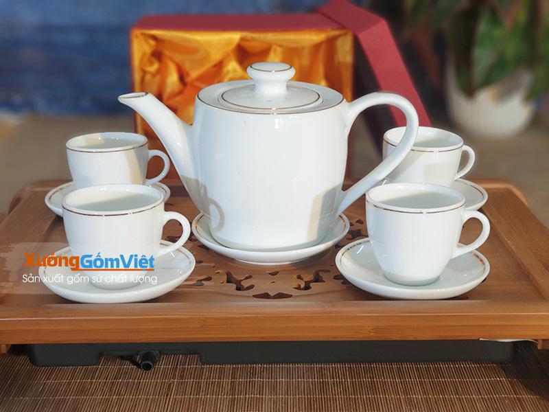 Bộ trà dáng thùng
