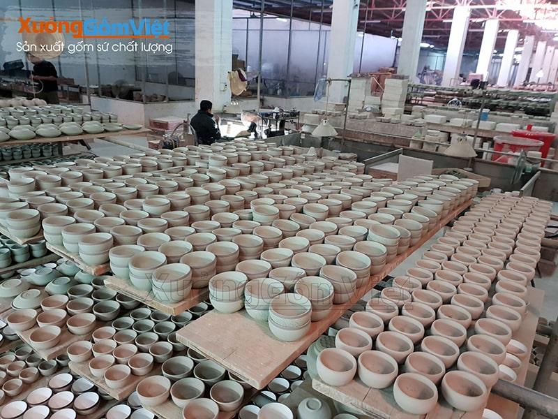 Cơ sở sản xuất bát đĩa