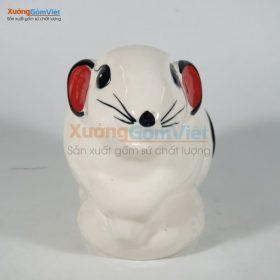 Ống heo đẹp hình chuột con màu trắng