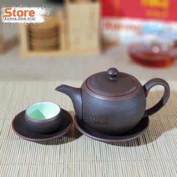 Bộ ấm trà gốm Tử Sa đẹp ATS-79