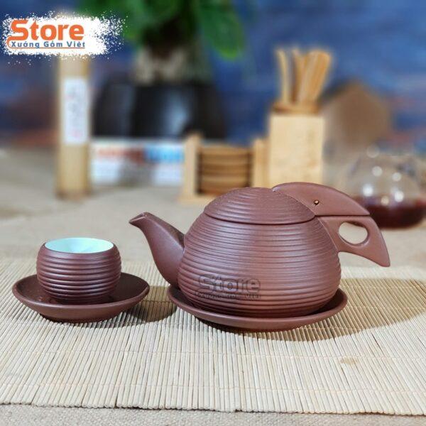 Bộ ấm chén trà gốm Tử Sa ATS-85