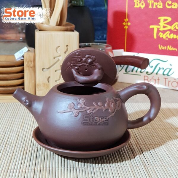 Bộ ấm trà Tử Sa hoa mai ATS-75