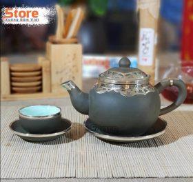 Bộ trà Tử Sa bọc đồng đẹp ATS-91