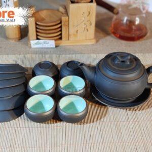 Bộ trà Tử Sa Bát Tràng đẹp ATS-65