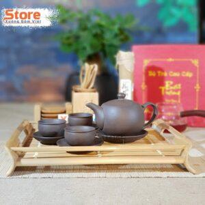 Bộ ấm chén uống trà gốm ATS-84