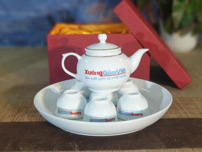Bộ trà Mini chỉ vàng
