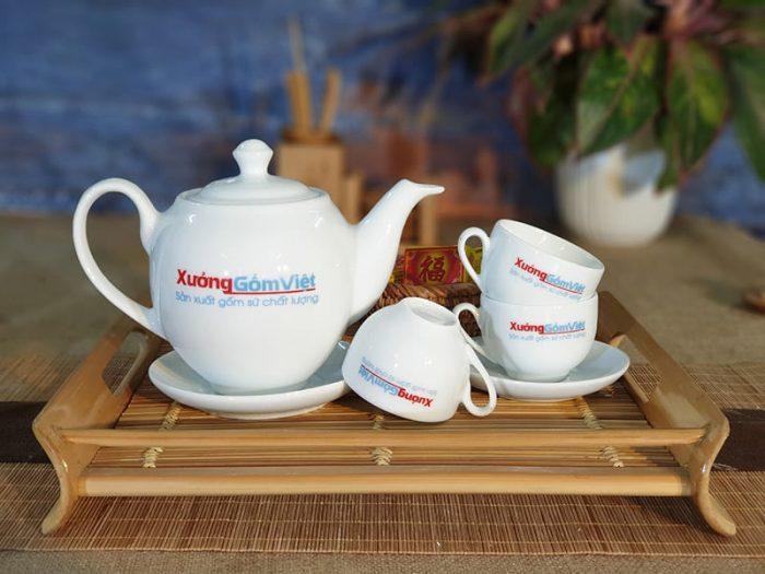 Bộ trà trắng dml