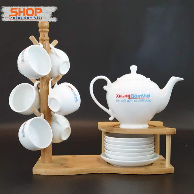 Bình trà sứ Bát Tràng cao cấp giá rẻ AT-60
