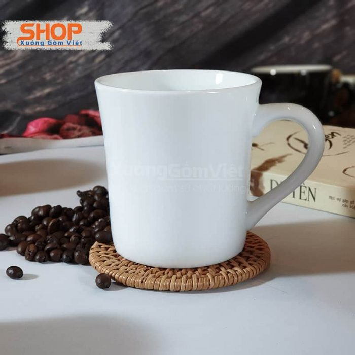 Ly sứ trắng eo miệng loe CST-M08