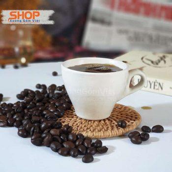 Tách sứ trắng espresso quai dày CST–M19