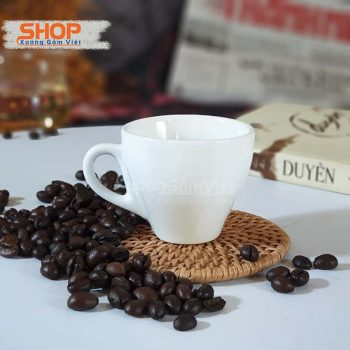Ly uống cafe espresso sứ trắng CST-M36