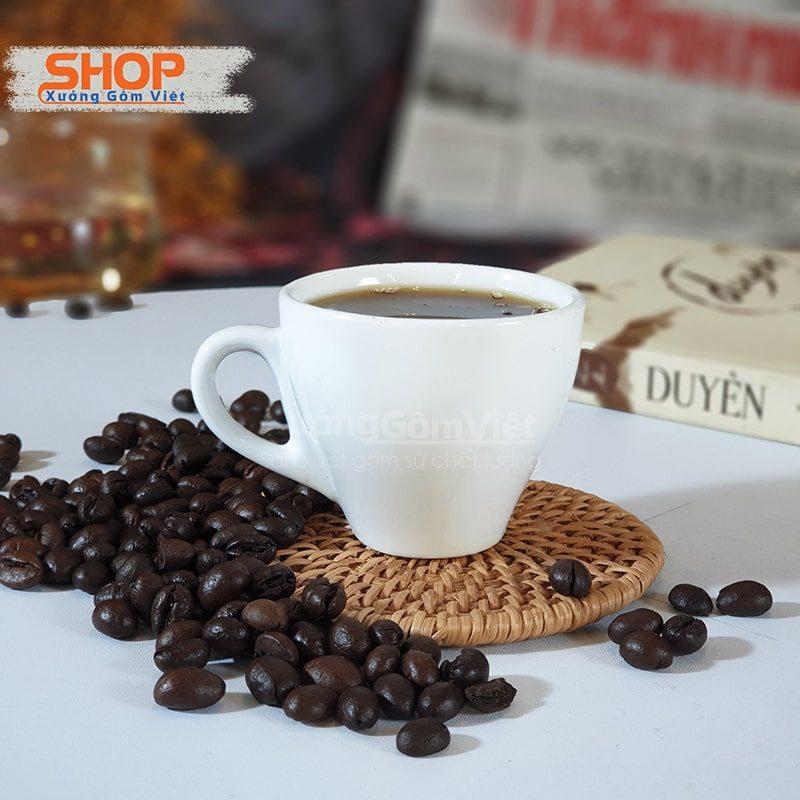 Cốc cafe espresso sứ trắng CSM-M33.8
