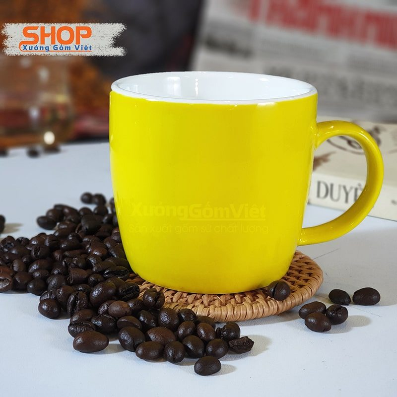 Ly sứ uống trà cafe có quai CSM-M59.4