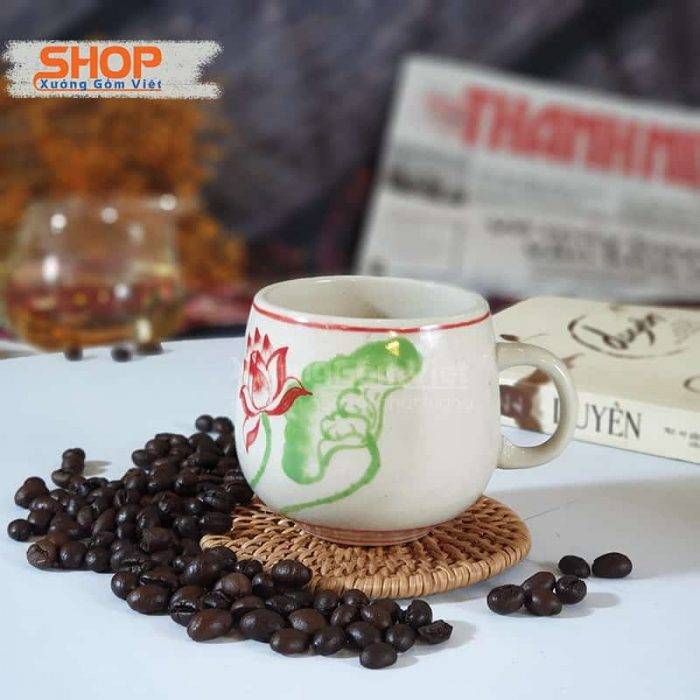 Cốc sứ giả cổ pha trà cà phê CSM-M98