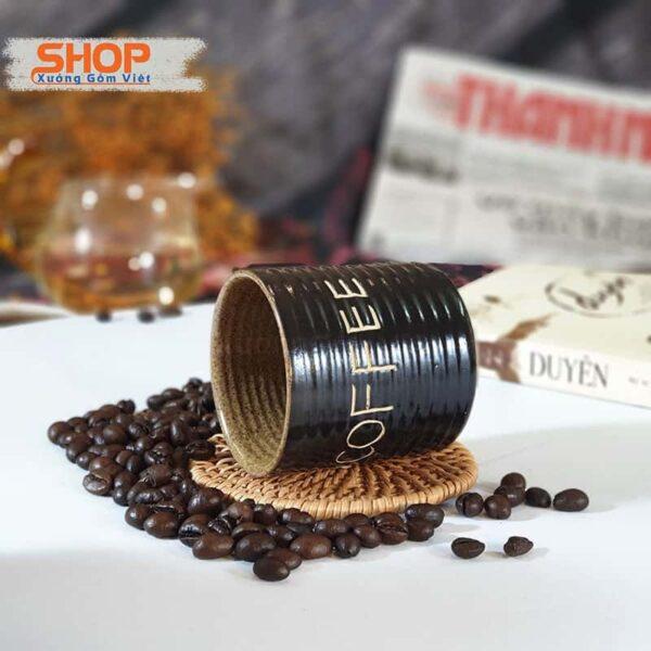 Cốc coffee khắc chữ và đĩa CSM-M101