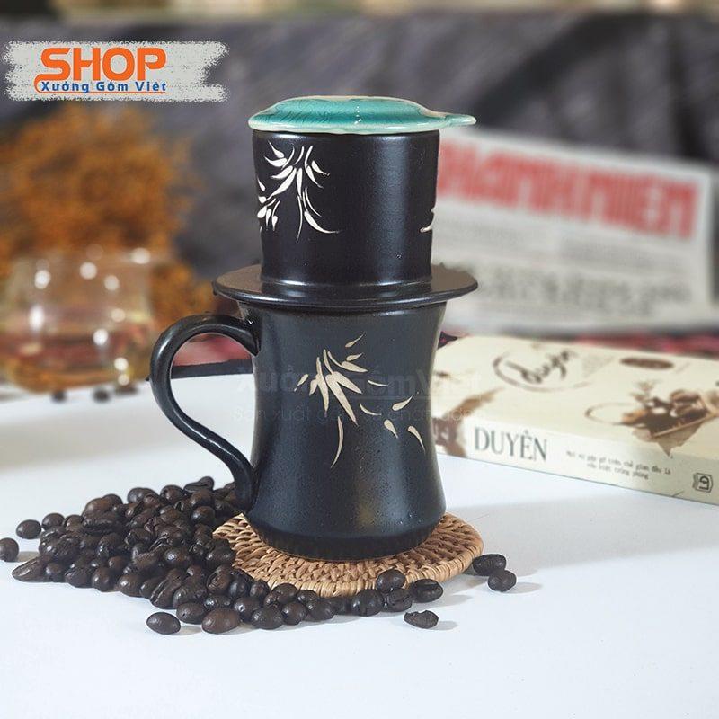 Bộ cốc liền phin coffee to bằng sứ CSM-M95Bộ cốc liền phin coffee to bằng sứ CSM-M95