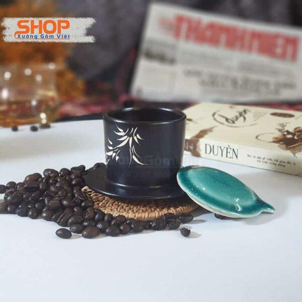 Bộ cốc liên phin coffee to bằng sứ CSM-M95