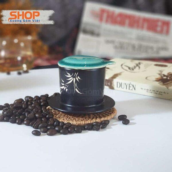 Bộ cốc liền phin coffee to bằng sứ CSM-M95