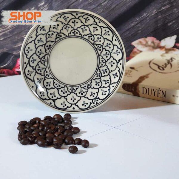 Bộ tách và đĩa sứ uống cà phê CSM-M22