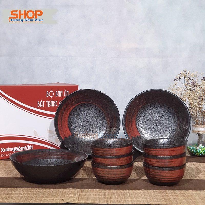 Bộ bát đĩa bàn ăn sứ kiểu Nhật đẹp BD9-11