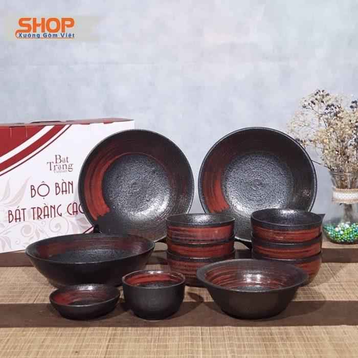 Bộ bát đĩa 12 vật phẩm kiểu Nhật BD12-11