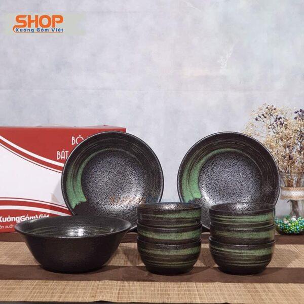 Bộ bát đĩa sứ phong cách Nhật đẹp BD9-10