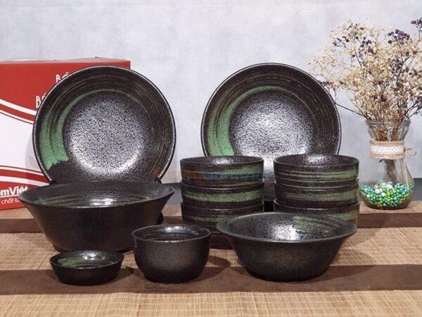Bộ bát đĩa sứ nhà hàng kiểu Nhật BD12-10
