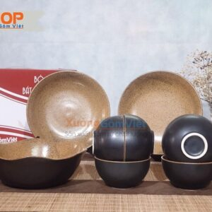 Bộ bát đĩa sứ quà tặng 9 món đẹp BD9-09