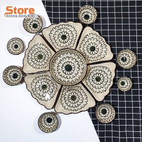 Bộ bát đĩa hoa mặt trời 15 món sang trọng