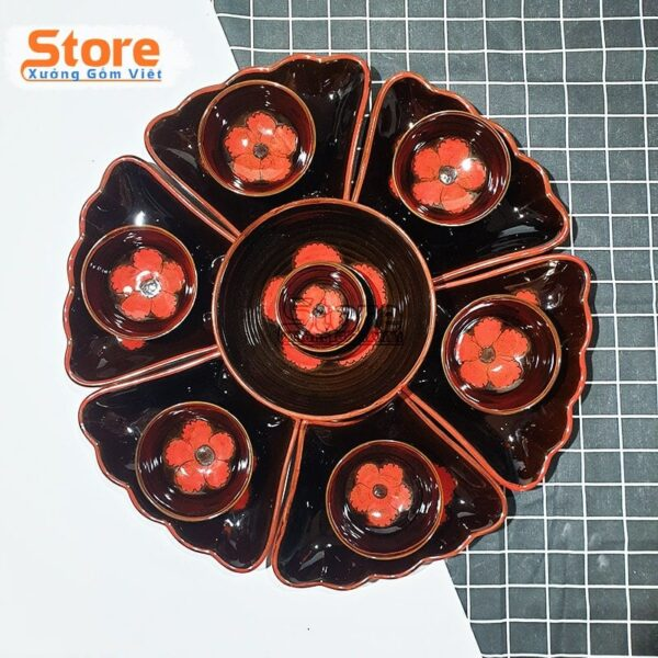 Set bát đĩa hoa mặt trời cao cấp