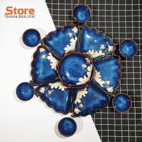 Bộ bát đĩa hoa mặt trời sang trọng 13 món