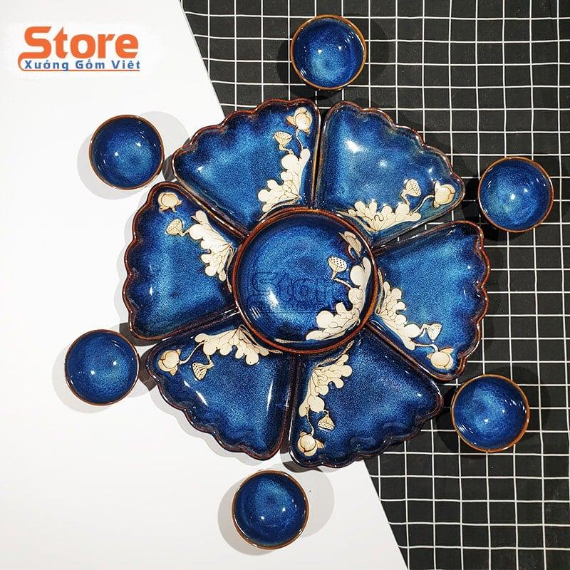 Bộ bát đĩa hoa mặt trời sang trọng 7 món