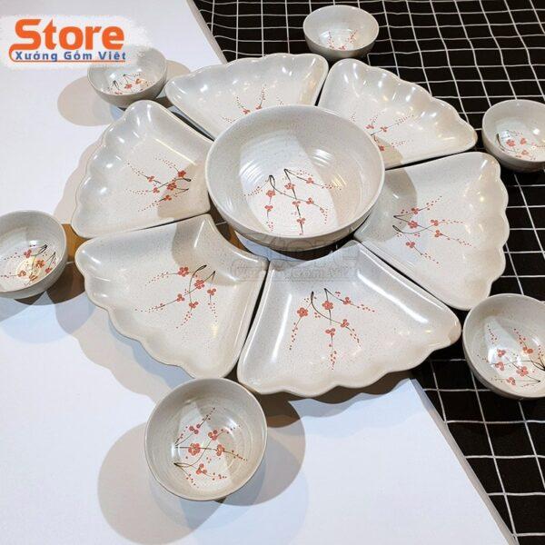 Bộ bát đĩa sứ cao cấp 15 món