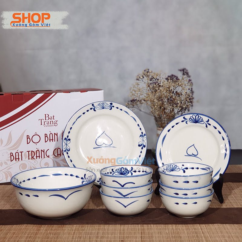 Bộ bát đĩa nhà hàng bằng gốm sứ BD9-02