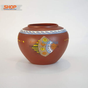 Bình hoa gốm Bát Tràng dễ thương BHG-04