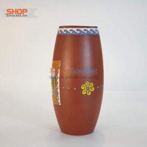 Lọ cắm hoa trang trí gốm Bát Tràng BHG-05