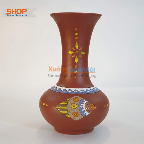 Bình hoa gốm làm quà tặng rẻ đẹp BHG-06