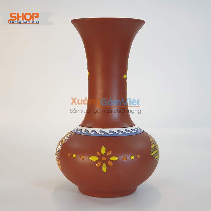 Bình cắm hoa trưng bày gốm rẻ đẹp BHG-06