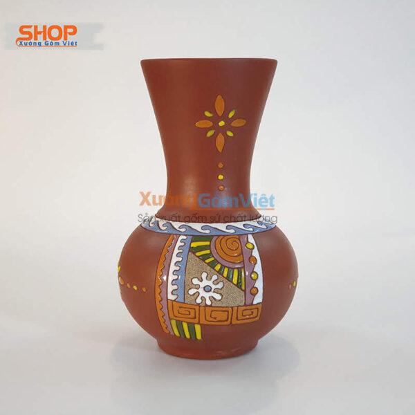 Bình cắm hoa gốm Bát Tràng đẹp BHG-02