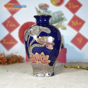 Bình cắm hoa bằng sứ in logo giá rẻ BHS-18