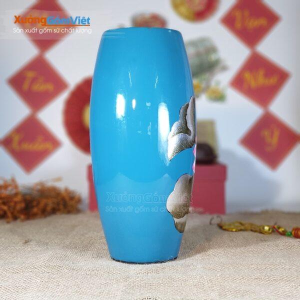 Bình hoa sứ làm quà tặng in logo đẹp BHS-16
