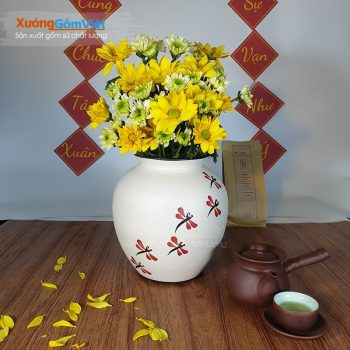 Bình cắm hoa sang trọng bằng gốm BHG-21