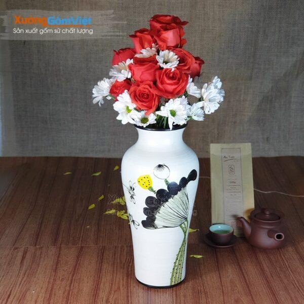 Lọ hoa cao cấp làm quà tặng in logo BHG-20