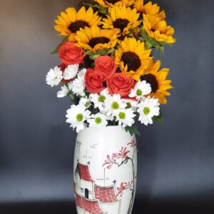 Lọ hoa quà tặng Tết gốm Bát Tràng BHG-27