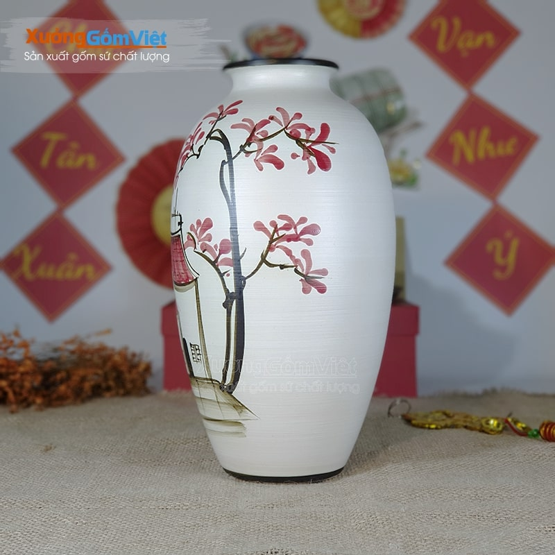 Bình cắm hoa gốm sứ cao cấp giá rẻ BHG-09