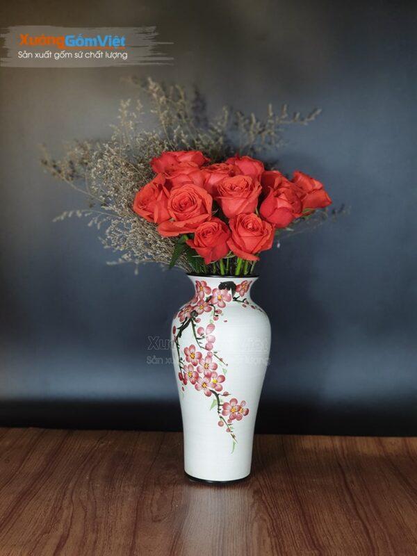 Lọ cắm hoa tươi đẹp vẽ tay độc đáo BHG-13
