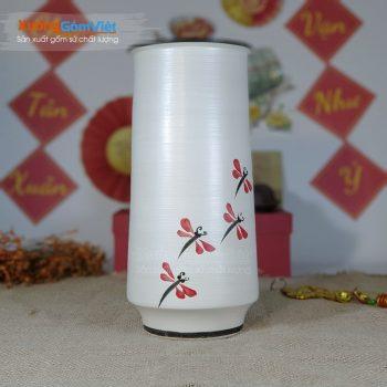 Bình gốm sứ cắm hoa trưng bày đẹp BHG-14
