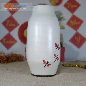 Bình hoa gốm in logo làm quà tặng BHG-17