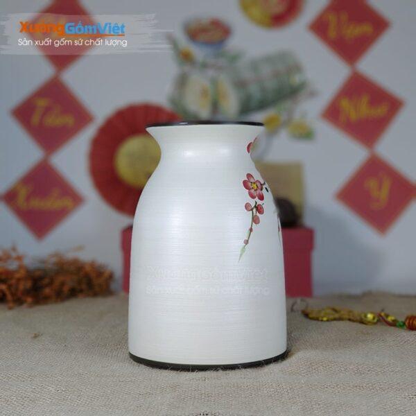 Lọ hoa gốm sứ Bát Tràng vẽ tay đẹp BHG-07